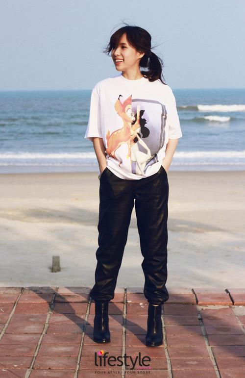 Cách mix áo họa tiết cá tính của tín đồ thời trang Việt - 3