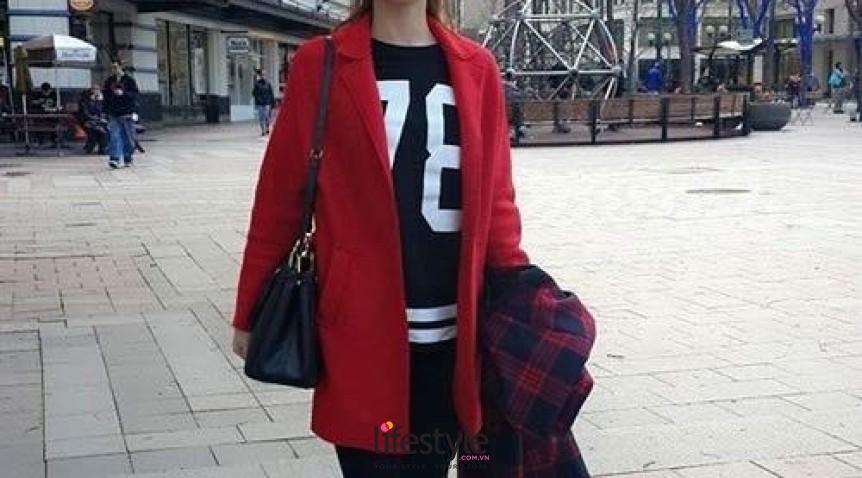 Các kiểu áo khoác nữ dáng rộng cá tính